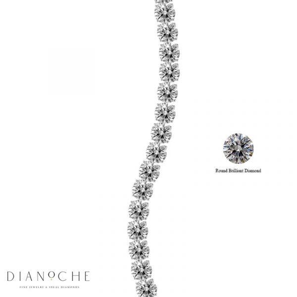 tennis bracelet round diamonds white gold