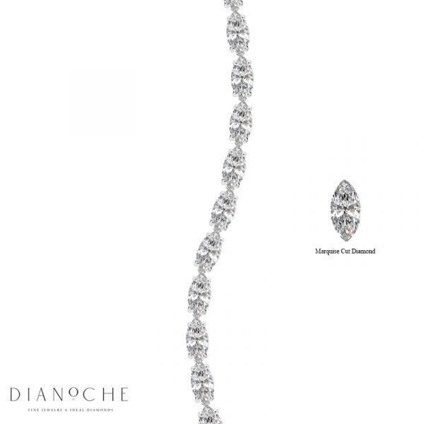 marquise diamond bracelet white gold