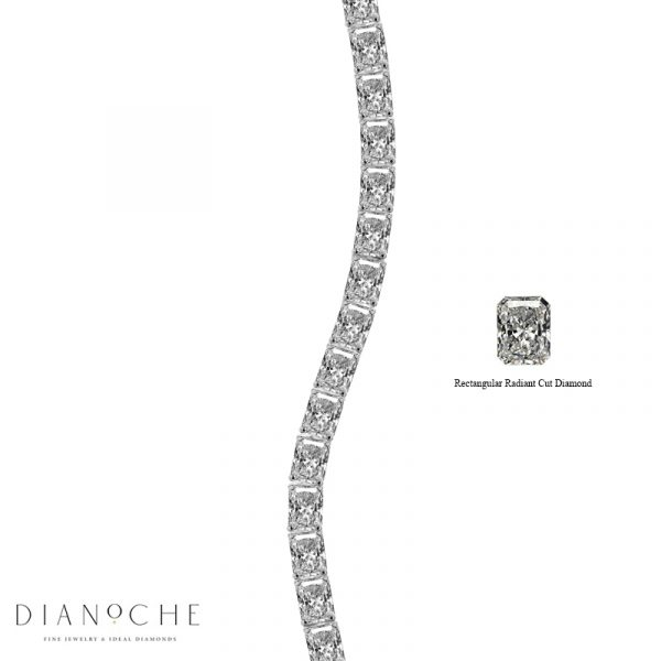 radiant cut diamond tennis bracelet