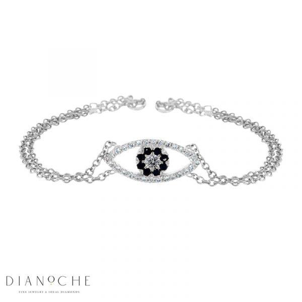 unique diamond bracelet white gold