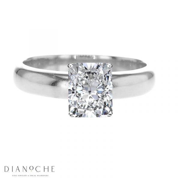 Cushion Cut Diamond Ring White Gold