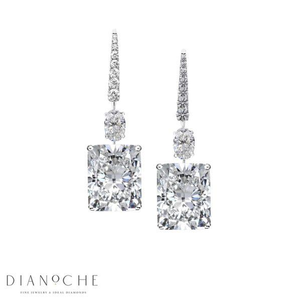 drop diamond earrings white gold