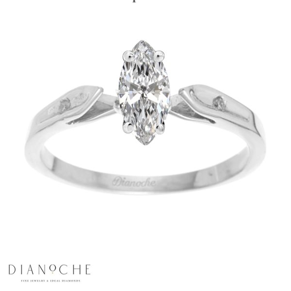 marquise cut diamond wedding ring white gold