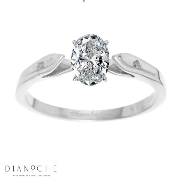 Oval Cut Ring white gold