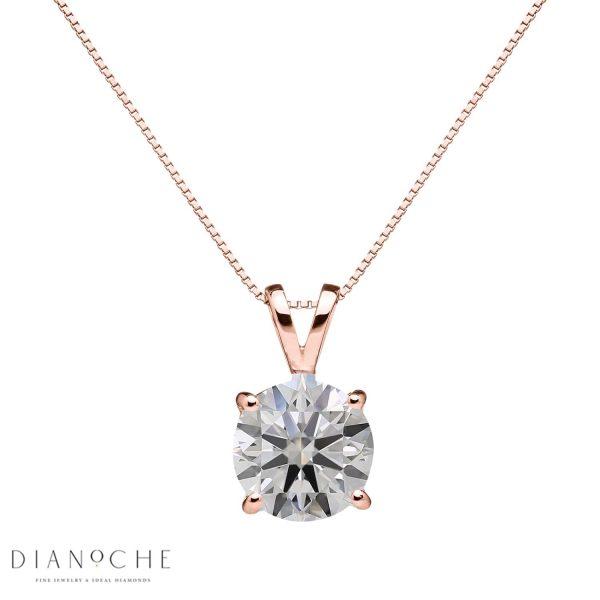 1 ct diamond pendant rose gold