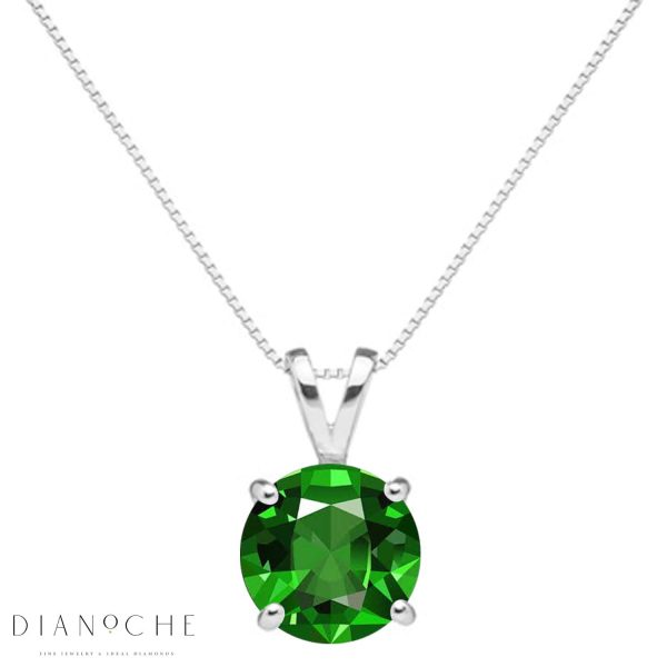 classic emerald necklace white gold