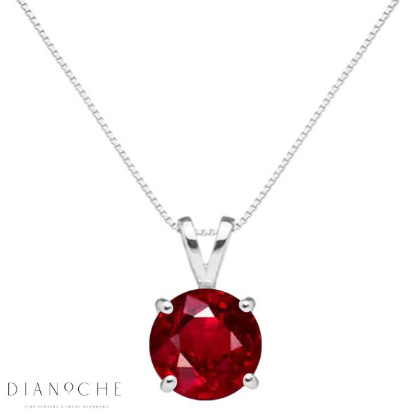 classic ruby necklace white gold