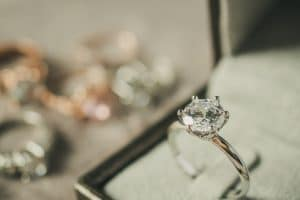 What should I look for when buying a diamond engagement ring?