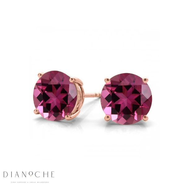 classic pink sapphire earrings rose gold