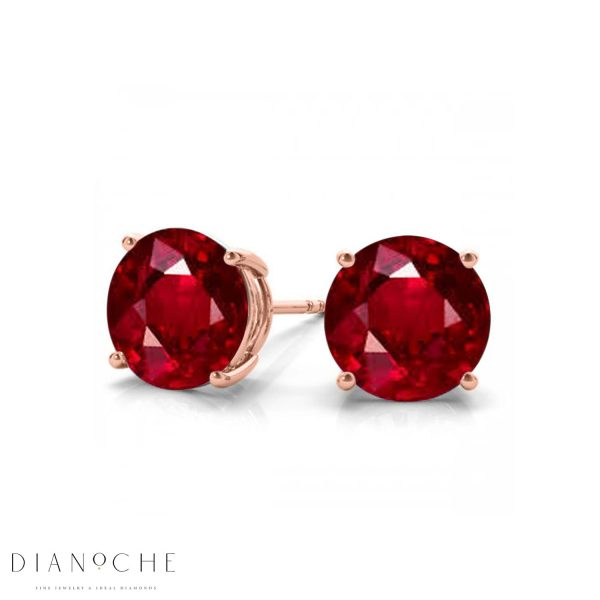 classic ruby earrings rose gold